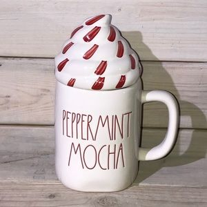 Rae Dunn PEPPERMINT MOCHA Christmas Mug NWT